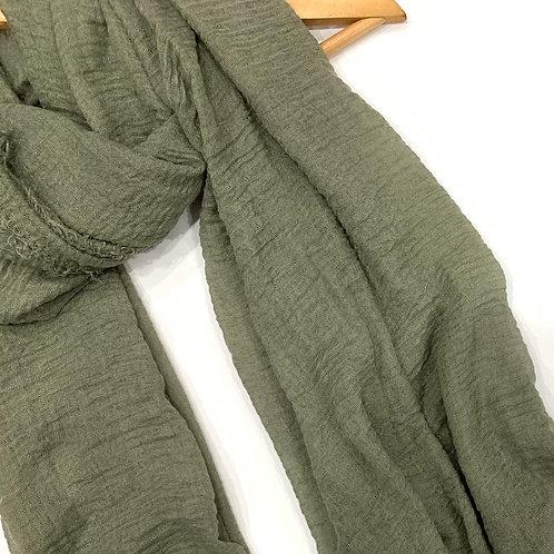 Crinkle Hijab Green Tea