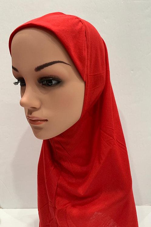 Kids Hijab Medium Red