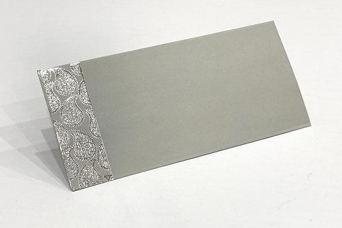 Fancy Envelope Silver Paisley + Grey