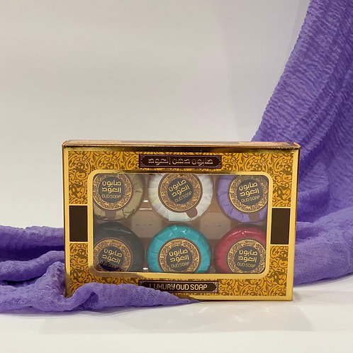 Oud Soap Bars (6pc 20g each) Variety Pack