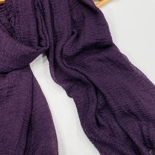 Crinkle Hijab Deep Purple