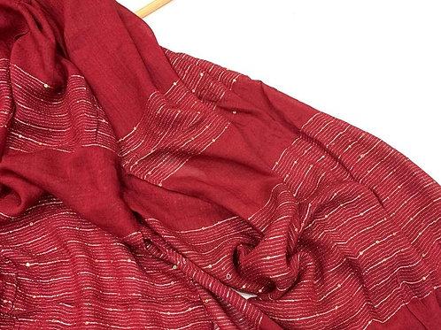 Shimmer Hijab maroon red