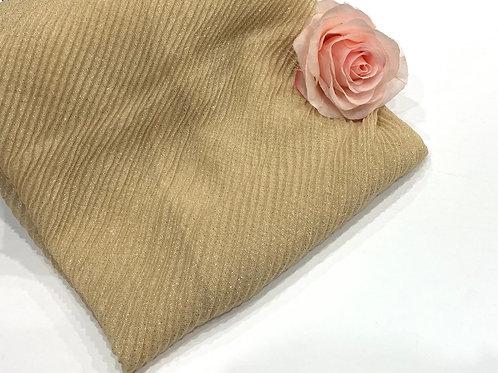 Ripple Shimmer Hijab Gold