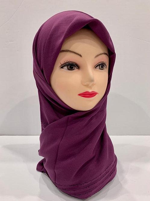 Premium Turkish Square Scarf with Shimmer Border Purple