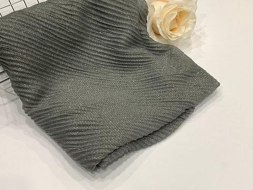 Ripple shimmer hijab grey