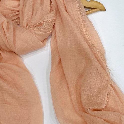 Crinkle Hijab Peach