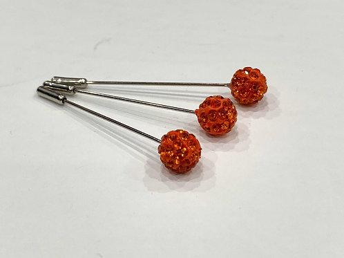 Crystal Pin Orange