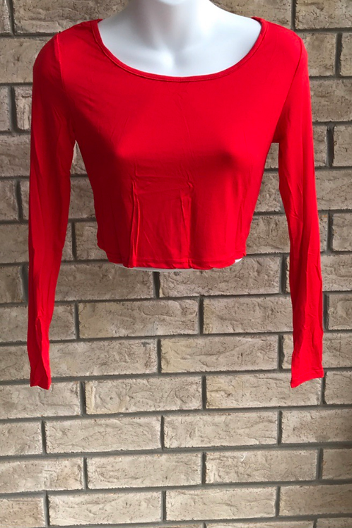Crop Undershirt Red