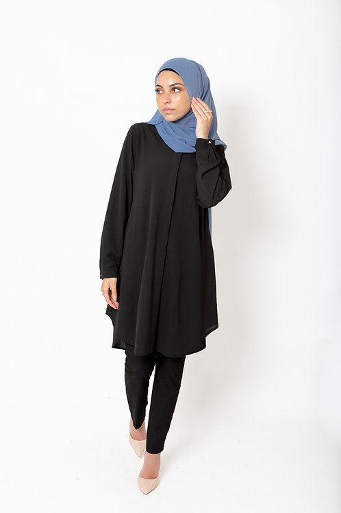 Zeenat Tunic Black