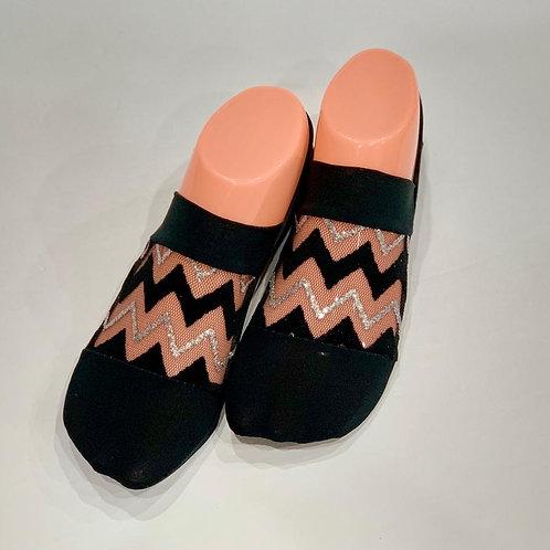 Silver Chevron Fancy Socks
