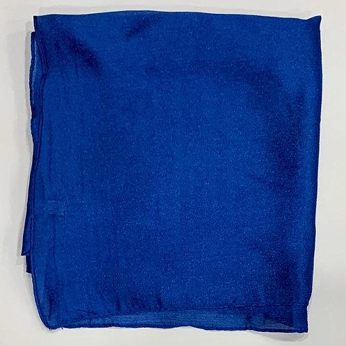 Formal square scarf royal blue