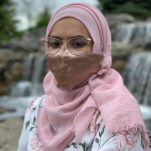 Blush Hijab Friendly 100% Mulberry Silk Mask