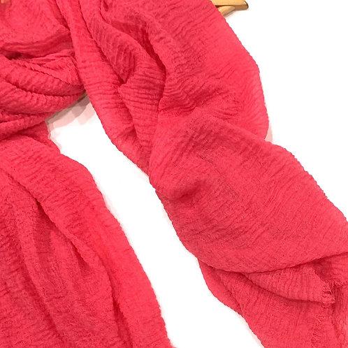 Crinkle Hijab Hot Pink