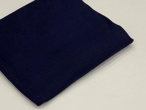 Ribbed Jersey Hijab Navy Blue