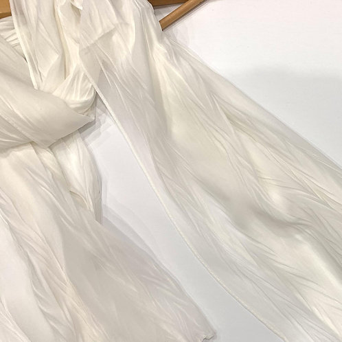 Crinkle Chiffon Hijab White