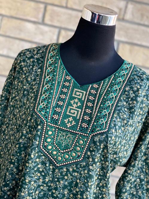 Green Kaftan/Lounge Wear