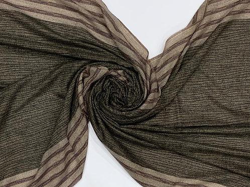 Printed Soft Cotton Modal Hijab Brown