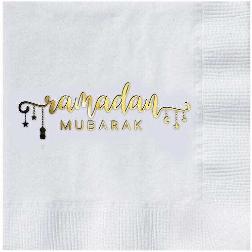 Gold Ramadan Mubarak Napkins
