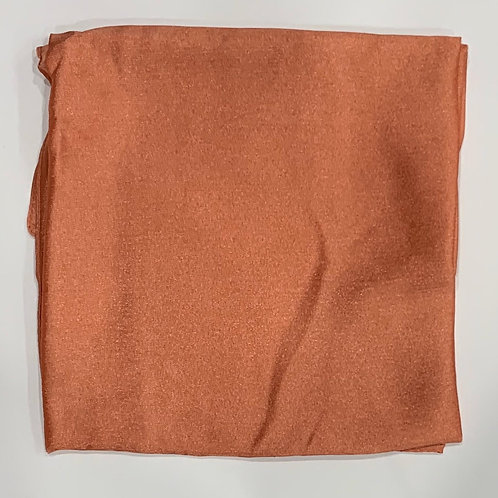 Formal square scarf coral
