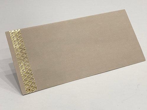 Fancy Envelope Gold Criss Cross + Khaki