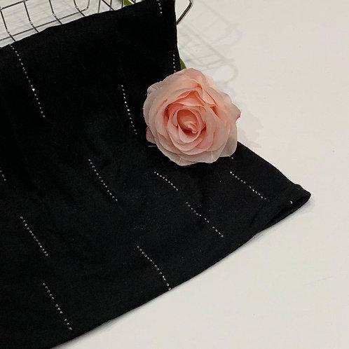 Diamond Jersey Hijab Black