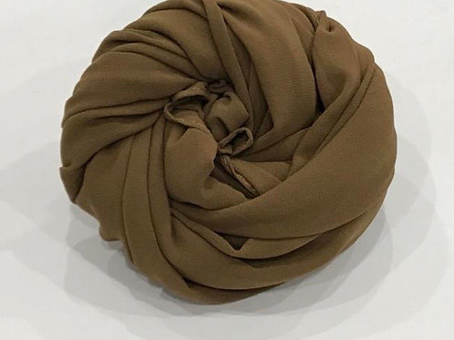 Chiffon Hijab Barley Brown