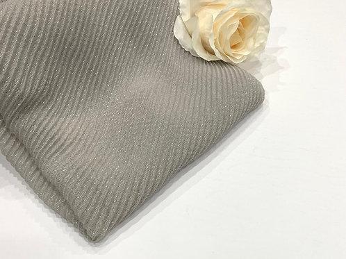 Ripple Shimmer Hijab Silver