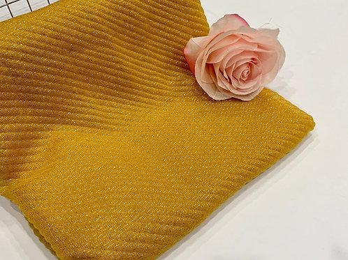 Ripple Shimmer Hijab Mustard