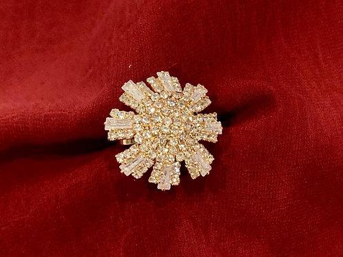 Rose Gold Flower Adjustable Ring