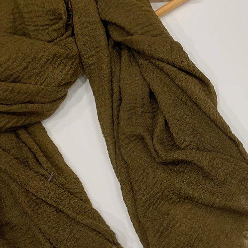 Crinkle Hijab Olive Green
