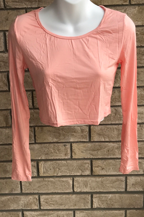 Crop Undershirt Peach
