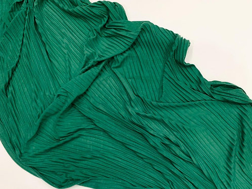 Pleated Jersey Hijab Green