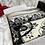 Thumbnail: Black Floral Arch Velvet Janamaz