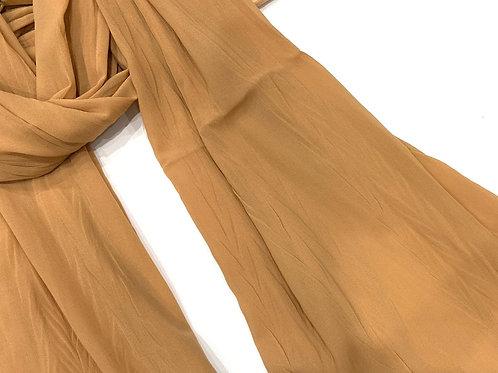 Crinkle Chiffon Hijab Beige