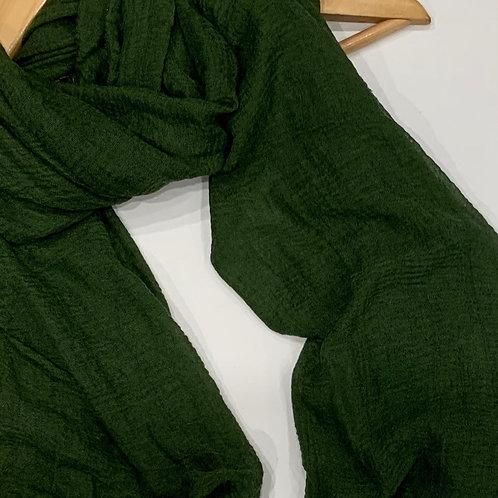 Crinkle Hijab Hunter Green