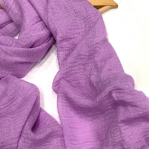 Glitter Crinkle Hijab Lavender