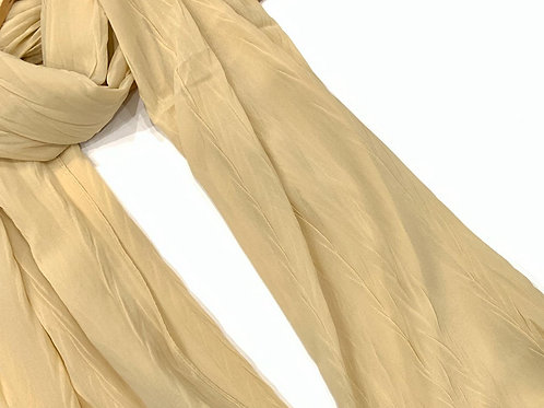 Crinkle Chiffon Hijab Cream
