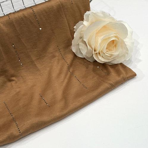 Diamond Jersey Hijab Golden Tan