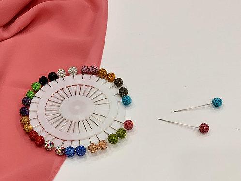 Crystal Ball Hijab Pin Wheel