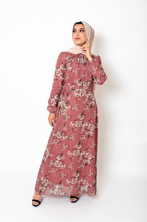 Rabia Dress Rose