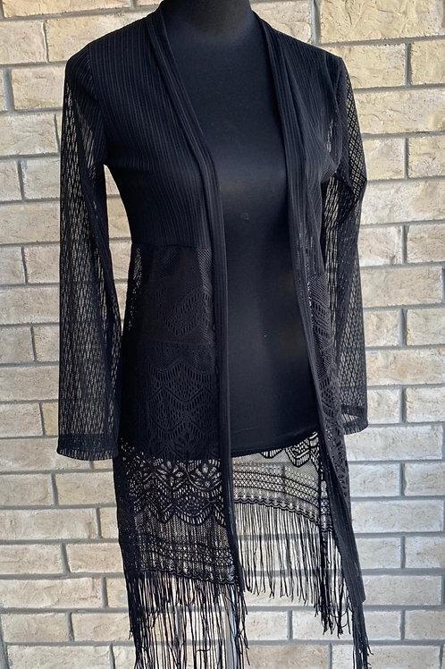 Lace cardigan black