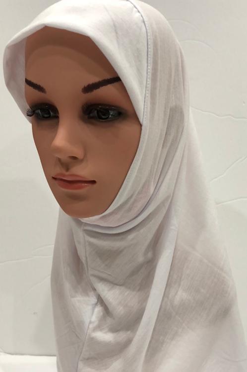 Kids Hijab Large White