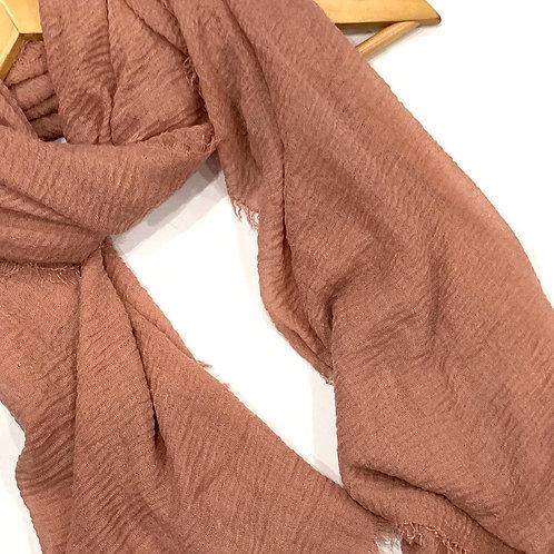 Crinkle Hijab Light Rosewood