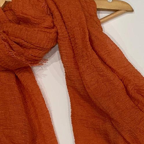 Crinkle Hijab Orange