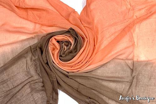 Ombré Hijab Orange/Brown