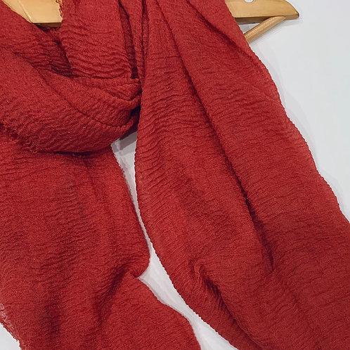 Crinkle Hijab Rose Red