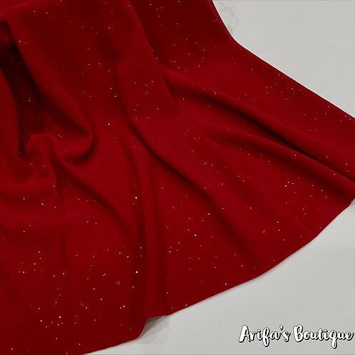 Glitter Chiffon Hijab Red