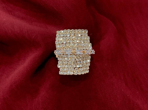 Gold Square Adjustable Ring