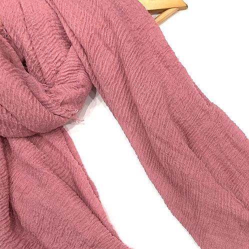 Crinkle Hijab Rose Pink
