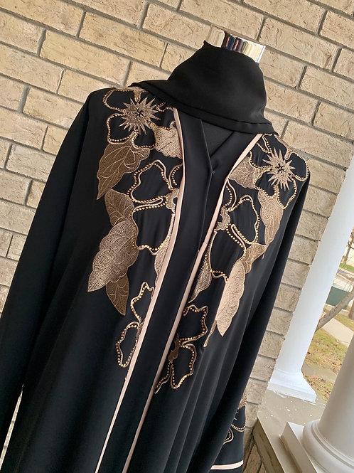 Premium Gold Embroidery Abaya